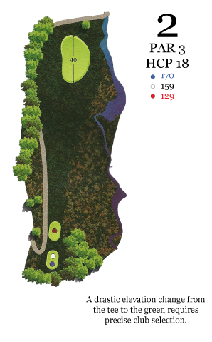 Laurel Valley Golf Hole 2 Yardage